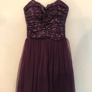 Sequin Tulle Strapless Dress